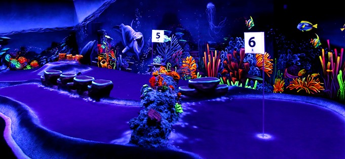 Reef in black light